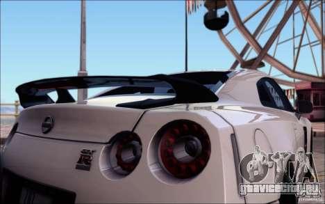 Nissan GTR Egoist 2011 (Версия с грязью) для GTA San Andreas салон