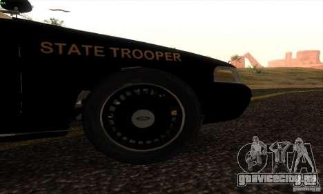 Ford Crown Victoria Florida Police для GTA San Andreas вид сзади слева
