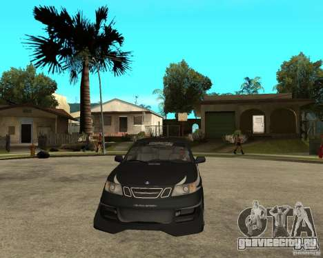 Saab 9-3 from GM Rally Вариант 2 для GTA San Andreas вид сзади