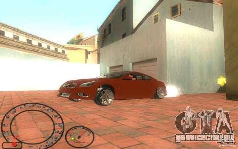 Infiniti G37 Vossen для GTA San Andreas вид сзади слева