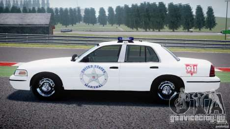 Ford Crown Victoria US Marshal [ELS] для GTA 4 вид слева