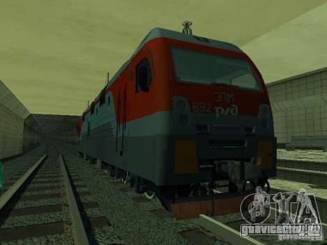 ЭП1М-392 ОАО РЖД для GTA San Andreas вид изнутри