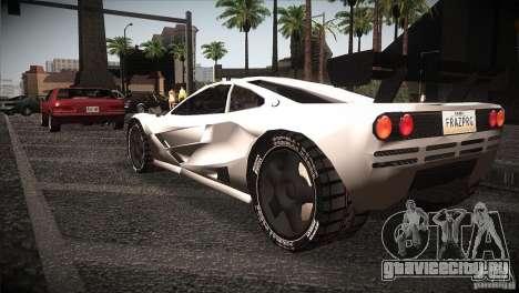 McLaren F1 LM для GTA San Andreas вид сзади слева