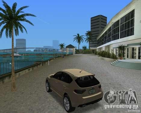 Subaru Impreza WRX STI для GTA Vice City вид справа
