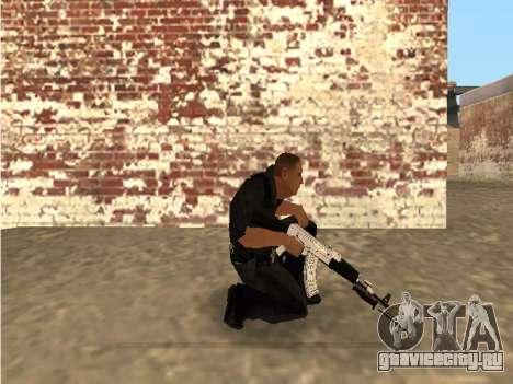 Chrome and Blue Weapons Pack для GTA San Andreas четвёртый скриншот