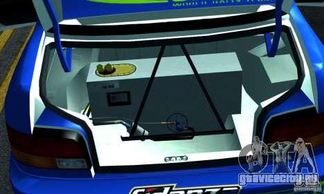 Subaru Impreza 1995 World Rally ChampionShip для GTA San Andreas вид сбоку