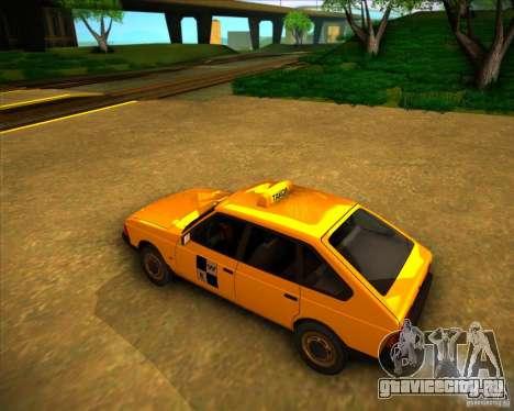 АЗЛК 2141 такси для GTA San Andreas вид сзади слева