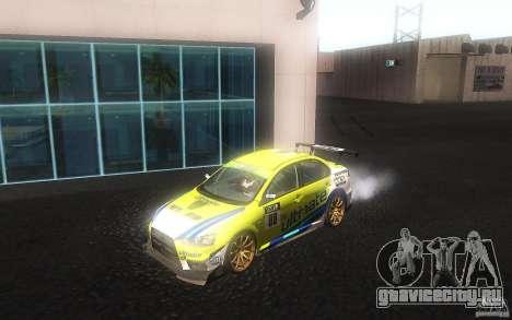 Mitsubishi Lancer Evolution X Gymkhana для GTA San Andreas вид слева