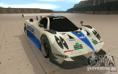 Pagani Zonda Racing Edit для GTA San Andreas вид сзади