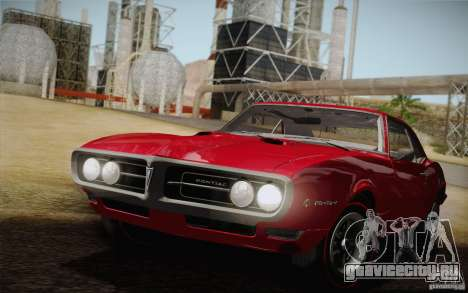 Pontiac Firebird 400 (2337) 1968 для GTA San Andreas вид сверху
