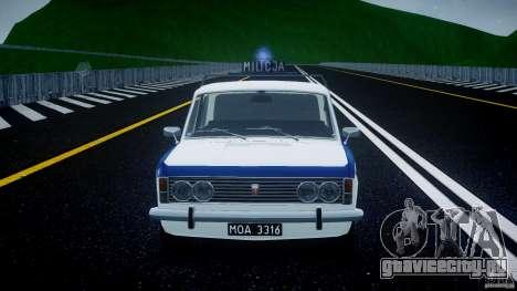 Fiat 125p Polski Milicja для GTA 4 вид сверху