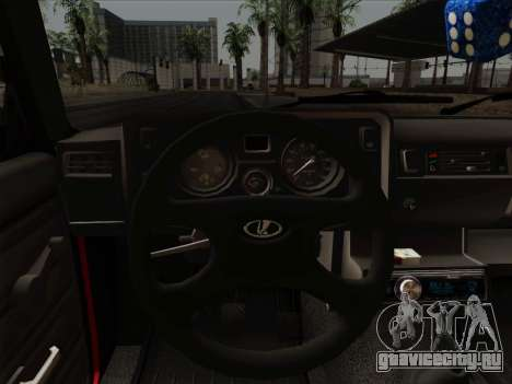 ВАЗ 21054 для GTA San Andreas вид снизу