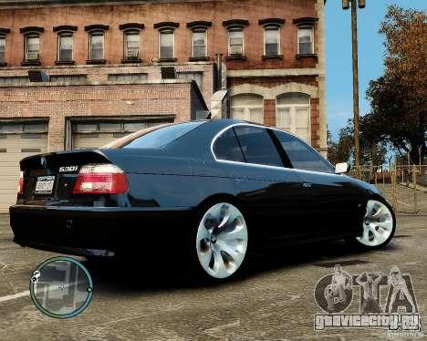 BMW 530I E39 [Final] для GTA 4 вид сзади слева