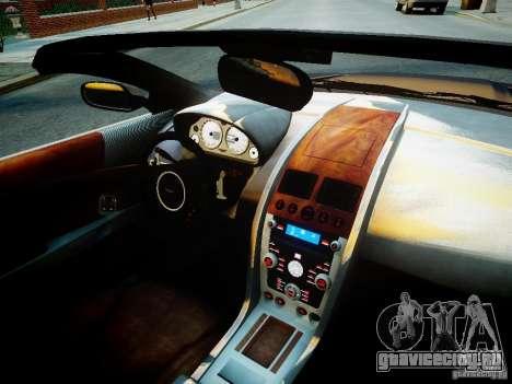 Aston Martin DB9 Volante v2.0 для GTA 4 вид изнутри