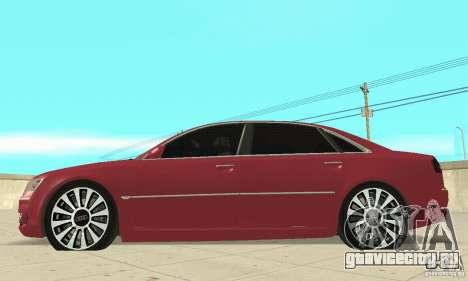 Audi A8L 4.2 FSI для GTA San Andreas вид сзади слева