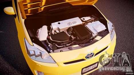 Toyota Prius LCC Taxi 2011 для GTA 4 вид изнутри