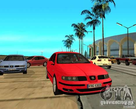Seat Leon 1.9 TDI для GTA San Andreas вид сзади