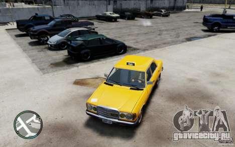 Mercedes-Benz 230 E Taxi для GTA 4 вид слева