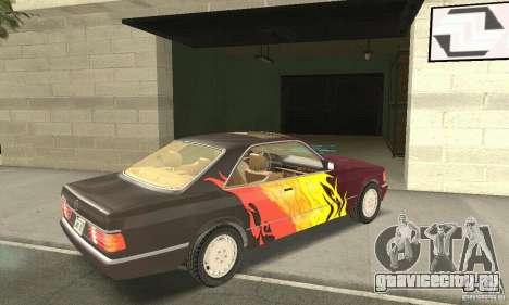 Mercedes-Benz W126 560SEC для GTA San Andreas салон