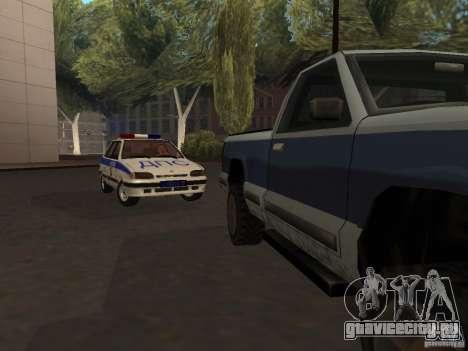 ВАЗ 2114 Милиция для GTA San Andreas вид сзади слева
