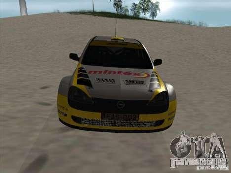 Opel Rally Car для GTA San Andreas вид изнутри
