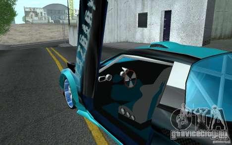 Baby blue Infernus для GTA San Andreas вид сбоку