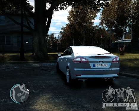 Ford Mondeo 2009 v1.0 для GTA 4 вид сзади слева
