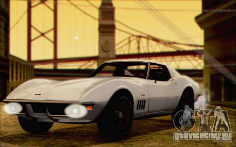 Chevrolet Corvette C3 Stingray T-Top 1969 для GTA San Andreas вид сзади слева