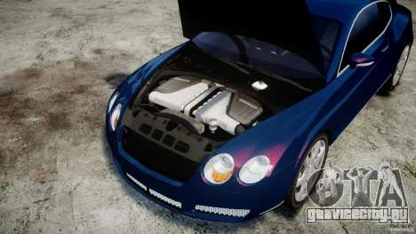 Bentley Continental GT v2.0 для GTA 4 вид изнутри