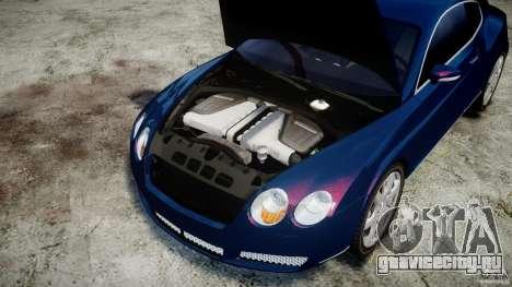 Bentley Continental GT v2.0 для GTA 4 вид изнутри