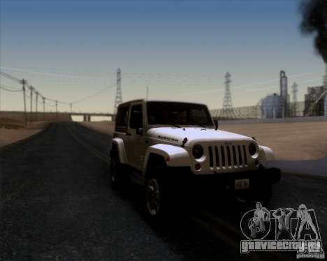 Jeep Wrangler Rubicon для GTA San Andreas вид справа