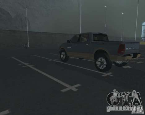 Dodge Ram Hemi для GTA San Andreas вид сзади слева