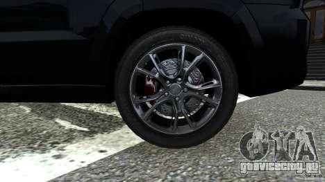 Jeep Grand Cherokee STR8 2012 для GTA 4 вид сзади