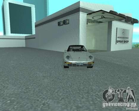 PORSHE 959 для GTA San Andreas вид справа