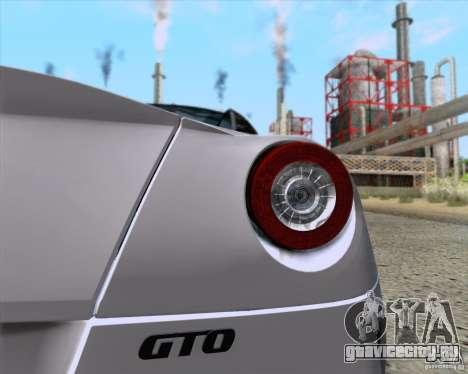 Ferrari 599 GTO 2011 v2.0 для GTA San Andreas вид справа