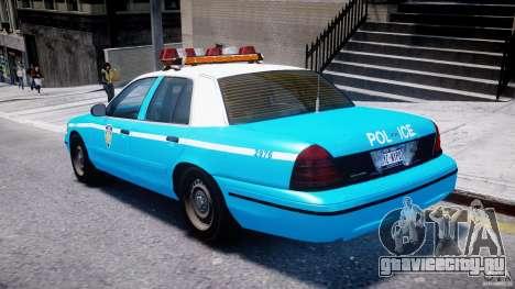 Ford Crown Victoria Classic Blue NYPD Scheme для GTA 4