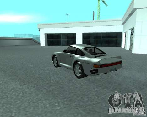 PORSHE 959 для GTA San Andreas вид слева