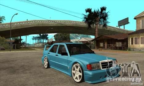 Mercedes-Benz w201 190 2.5-16 Evolution II для GTA San Andreas вид сзади