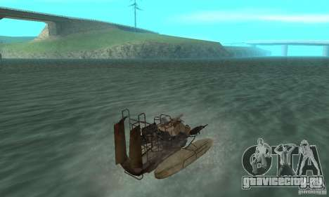 HL2 Airboat для GTA San Andreas вид слева