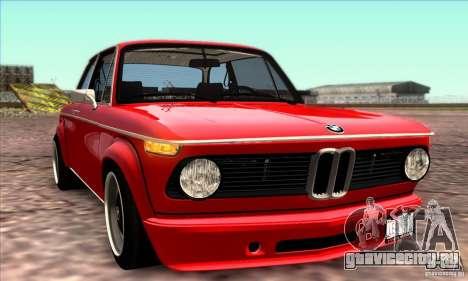 BMW 2002 Turbo для GTA San Andreas салон