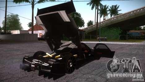 Pagani Zonda R для GTA San Andreas вид снизу