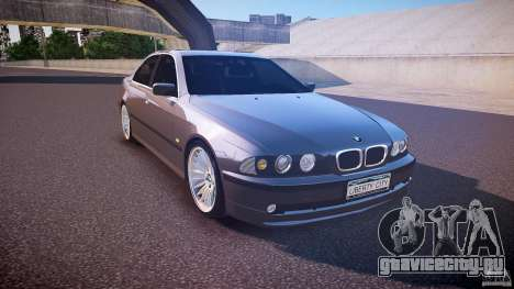 BMW 530I E39 stock white wheels для GTA 4 вид сзади