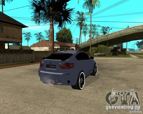 BMW X6 M HAMANN для GTA San Andreas вид сзади слева