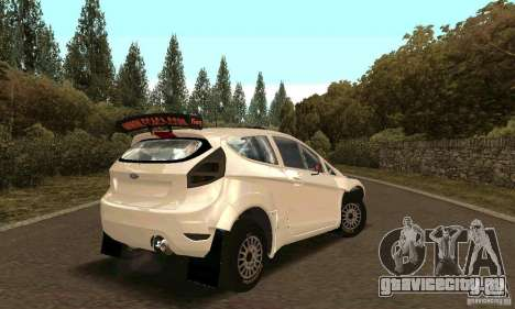 Ford Fiesta Rally для GTA San Andreas вид сверху