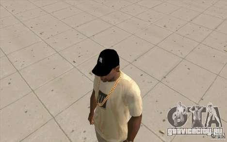 Кепка newyorkyankiys черная для GTA San Andreas