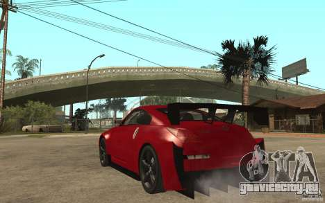 Nissan 350Z Supreme для GTA San Andreas вид сзади слева