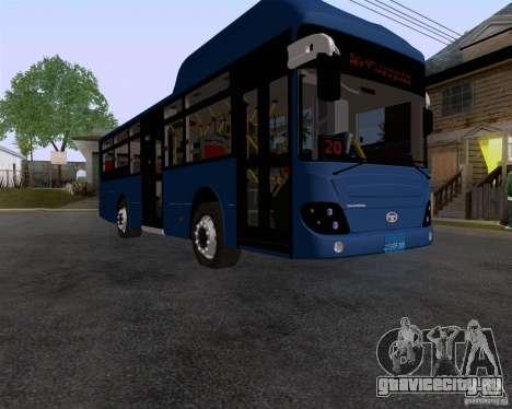 Daewoo Bus BAKU для GTA San Andreas вид справа