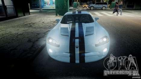 Dodge Viper SRT-10 для GTA 4 вид сверху
