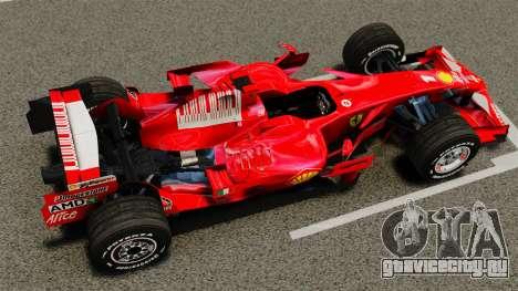 Ferrari F2008 для GTA 4 вид справа