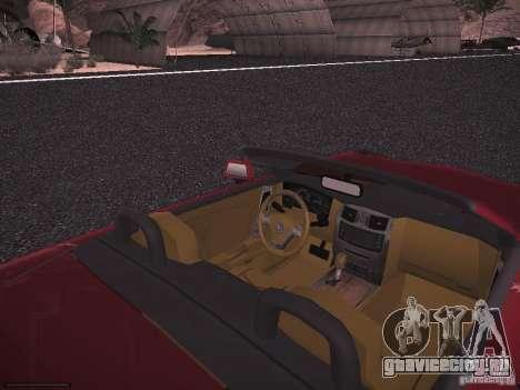 Cadillac XLR 2006 для GTA San Andreas вид сзади